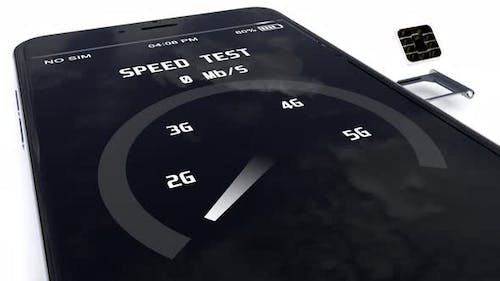 Telecom Network Internet Connection Speed Test on the Smartphone