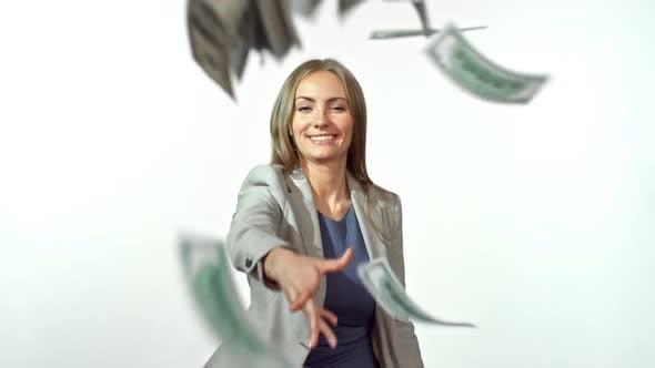 Thumbnail for Businesswoman Throwing Money