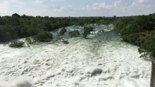 Thumbnail for Udawalawe Dam with all four spillways open