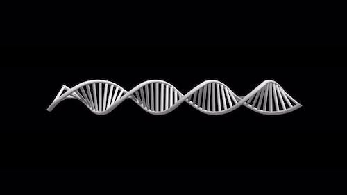 3D Rendered Loopable Animation Of Rotating Dna Glowing Molecule With Alpha Channel