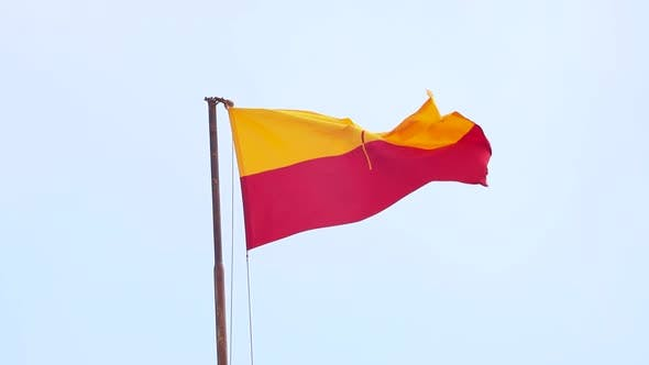 Thumbnail for Flag of Jaisalmer Against the Sky, Rajasthan, India