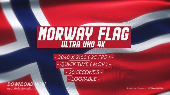 Norway Flag - Ultra UHD 4K Loopable