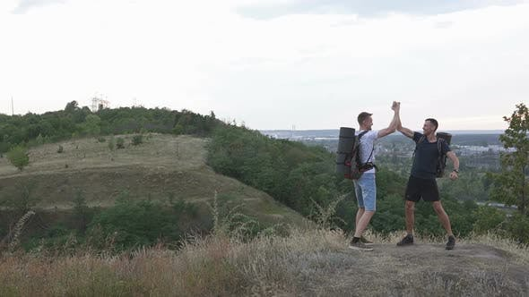 Thumbnail for The Joy of Two Athletes on the Top of the Mountain