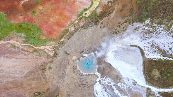 Cover Image for Flying Above Strokkur Geysir in the Golden Circle, Iceland