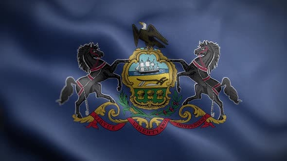 Pennsylvania State Flag Front HD