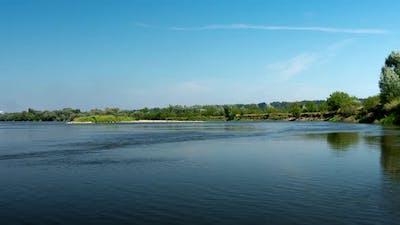 Sunny day on the River Vistula.