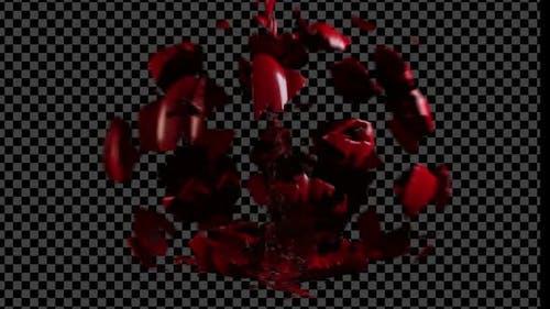Halloween-Kürbis explodieren Alpha