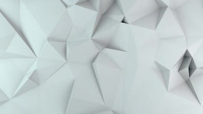 Abstract White Triangles BackGround