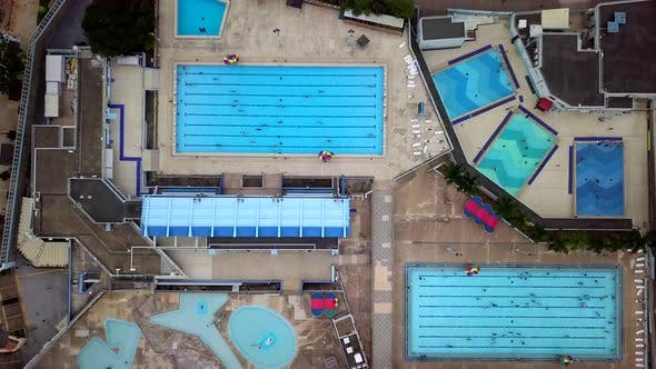 Cover Image for Top view of swimming pool
