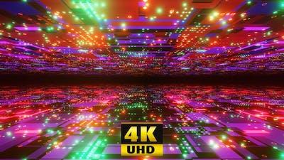 A Neon Glittering Tunnel 4K