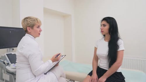 Doctor Talking Patient Diagnosis