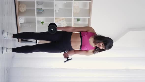 Fitness Blog Sportive Woman Home Training Lockdown