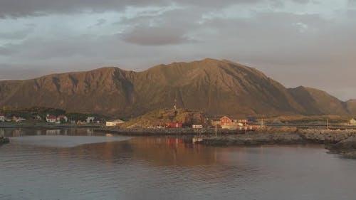 Coastal Village In Norway