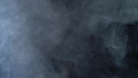 Thumbnail for Smoke Clouds Fog Overlay Perfect Black Background