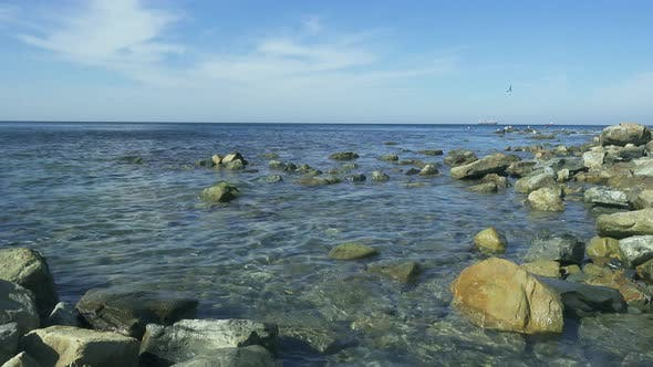 Thumbnail for Sea Rocky Shore with Clear Blue Water