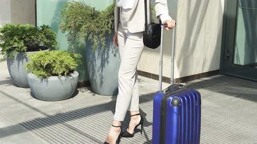 Businesswoman on Business Trip