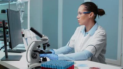 Researching Specialist Working in Laboratory