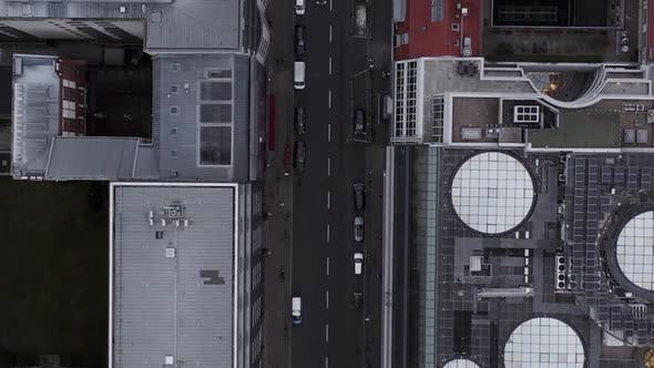 Thumbnail for AERIAL: Beautiful Overhead View of Downtown Berlin Mitte, Germany with Car Traffic and City Motion