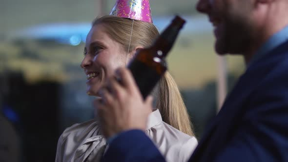 Thumbnail for Employees Celebrating Holiday and Toasting in the Office