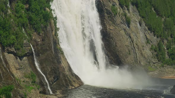 Thumbnail for Tilt up of the Montmorency Falls