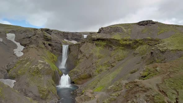 Thumbnail for Green Iceland Nature with Cascade Waterfalls