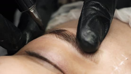 Thumbnail for Process of Microblading or Permanent Make-up of Eyebrows