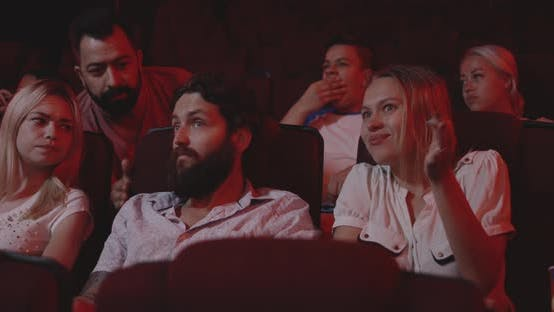 Thumbnail for Couple Disturbing Cinema Audience with Talking