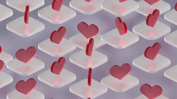 Herzen Hintergrund