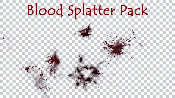 Blood Splatter Pack 4K