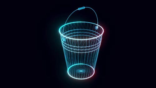 Bucket Hologram Rotating Hd