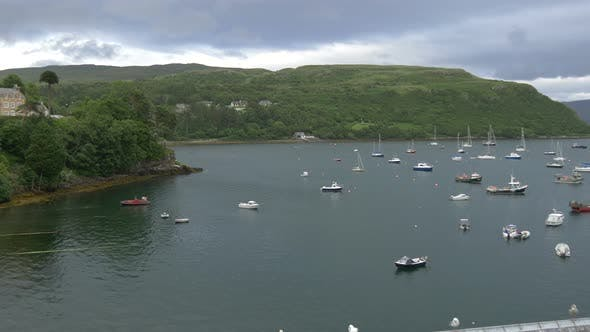Thumbnail for Pan right of Loch Portree on Isle of Skye
