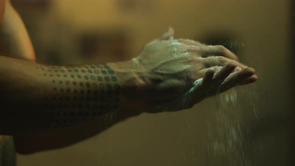 Thumbnail for Hands with talcum powder