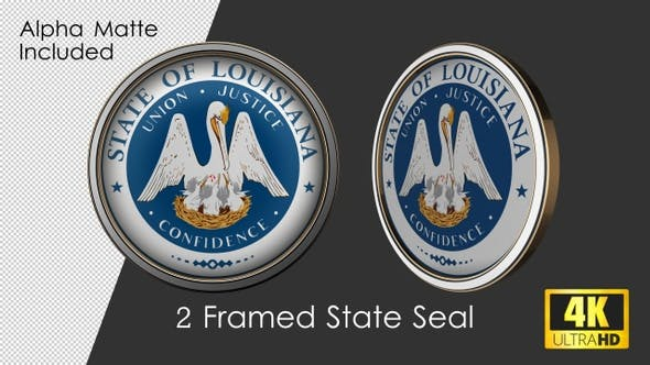 Framed Seal Of Louisiana State
