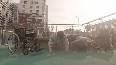Wheelchair Users Doing Push-ups