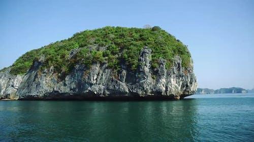 Beautiful View Of Rock Island In Halong Bay Vietnam