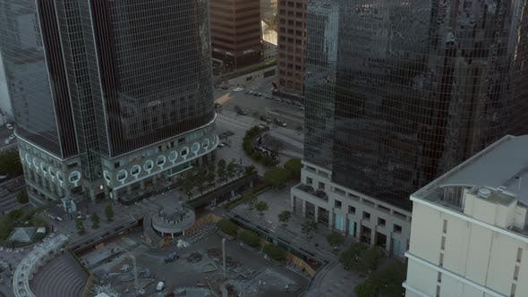 Thumbnail for AERIAL: Downtown Los Angeles, California Skyline with Look at Skyline Skyscrapers at Beautiful Blue