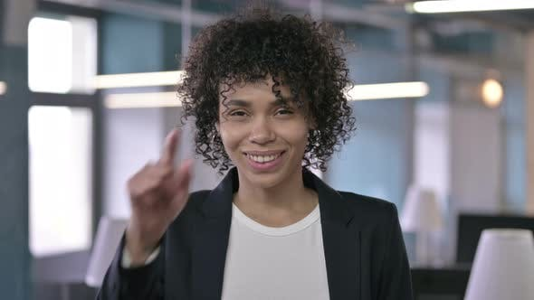 Thumbnail for Portrait of Cheerful Businesswoman Pointing Finger at Camera and Inviting