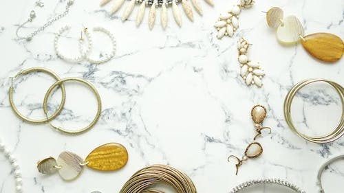Various Elements of Jewelry for a Woman. Set of Different Style and Look Precious and Trendy Designs