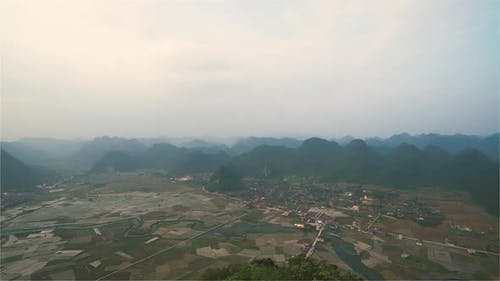 Bac Son Valley Vietnam / The Bac Son Valley at Sunset