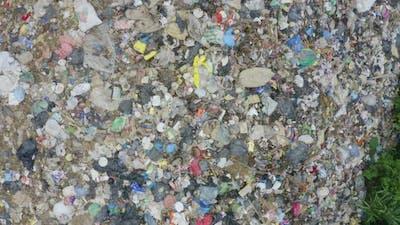 Close up of garbage landfill, showing an endless amount of garbage