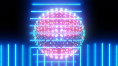 Laser Beams and Wireframe Ball