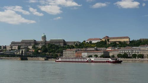 Cruise ship at the Danube river in Budapest
