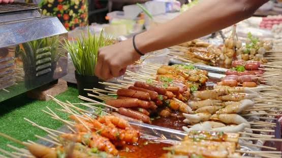 Skewer in thailand street market
