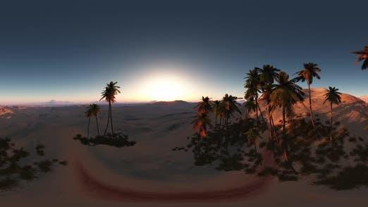 Thumbnail for VR 360 Degree Aerial Panorama of Palms in Desert