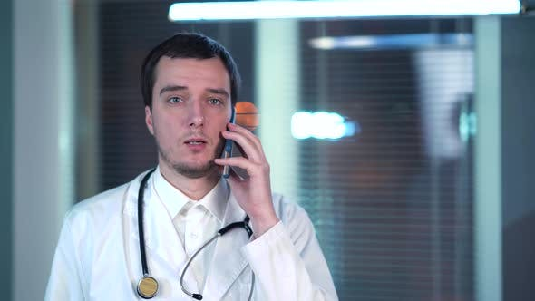 Thumbnail for Doctor Talking On The Phone