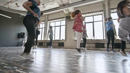 Happy Women Dancing Zumba