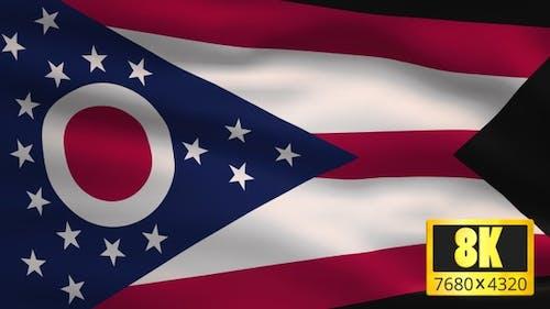 8K Ohio State Flag Background