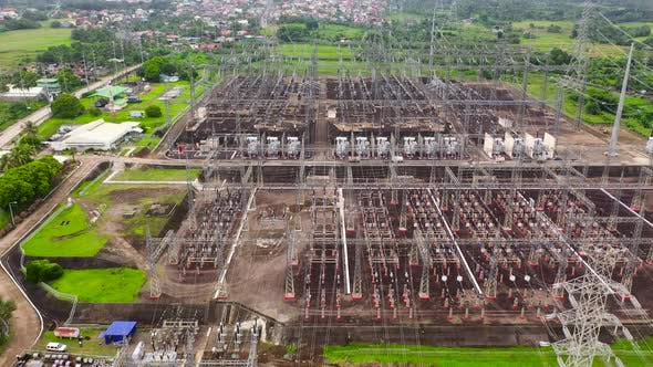 Thumbnail for Electrical Substation,power Station. Aerial View