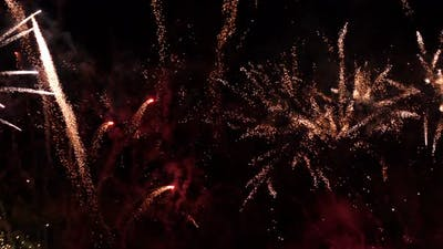 Fireworks Celebrate Background