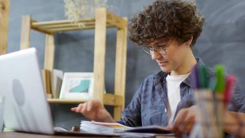Designer Posting Artworks Catalog Online